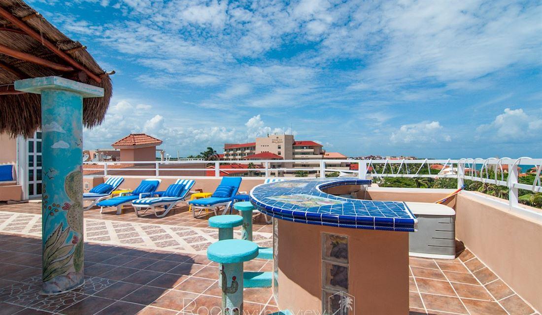 Increíble ático con vistas al mar en Puerto Aventuras